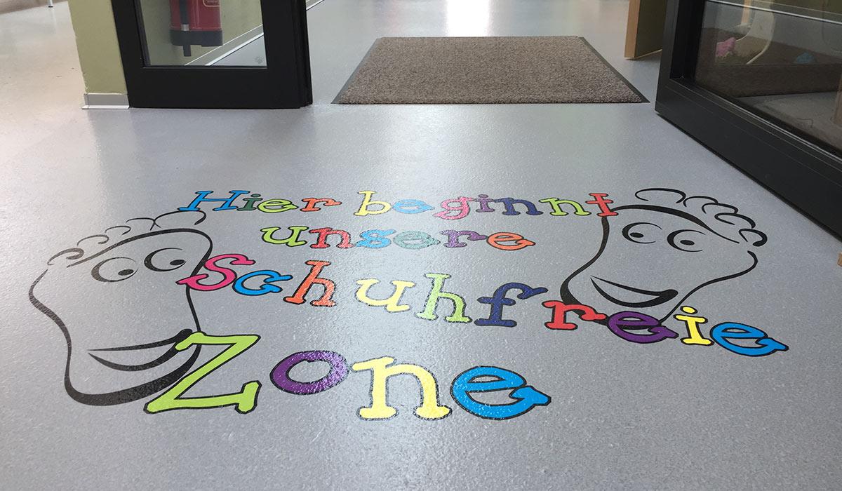 Kindergarten Oetz Fussbodenfolie