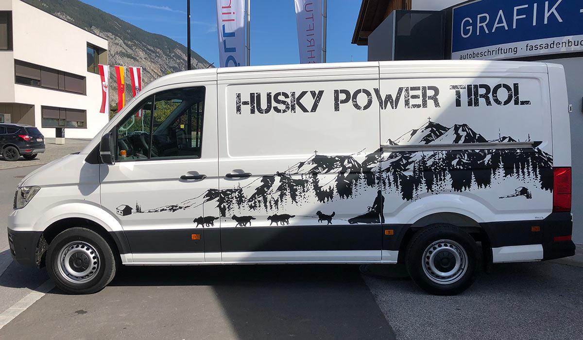 Husky Power Tirol Designbeklebung