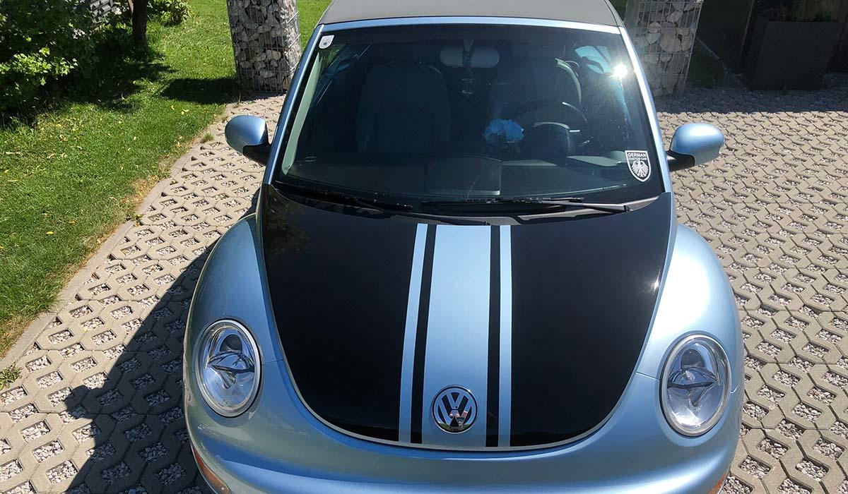 VW Beetle Haubenbeklebung