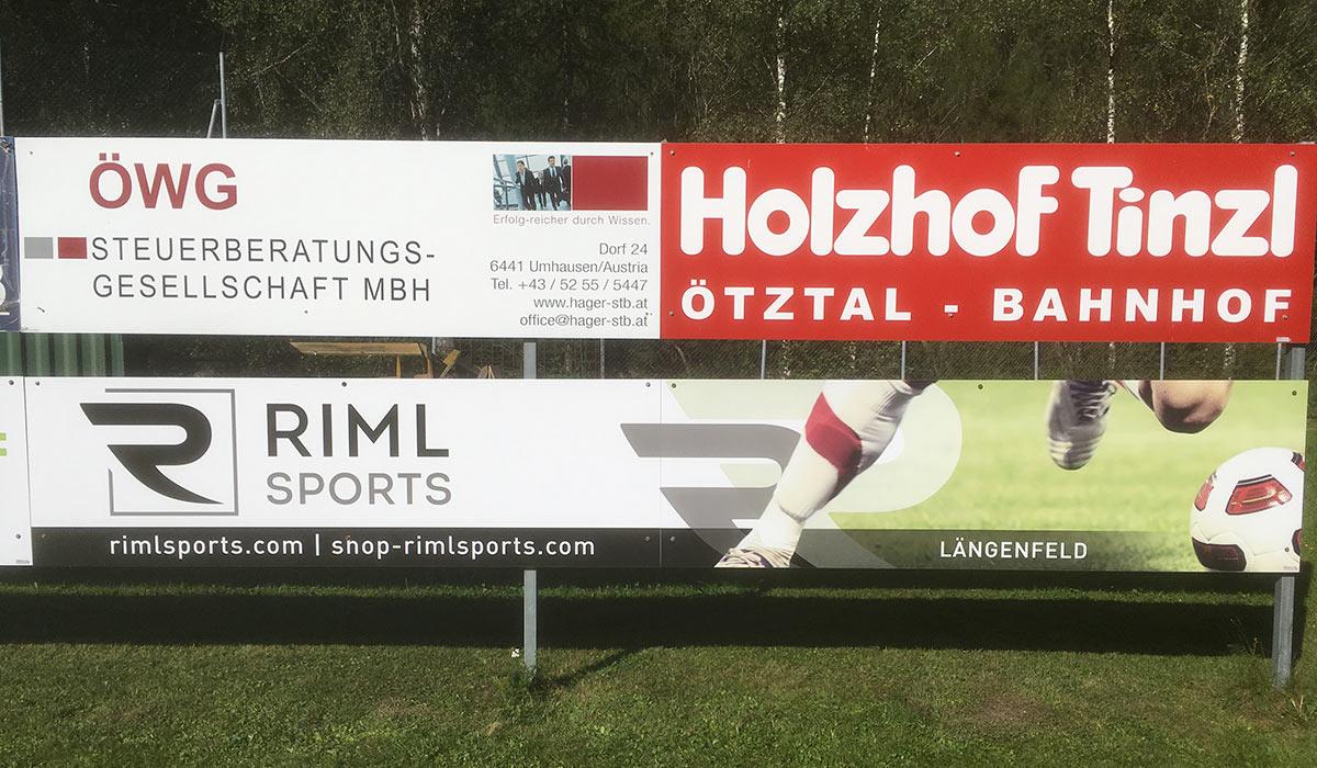 Werbefläche Fussballplatz