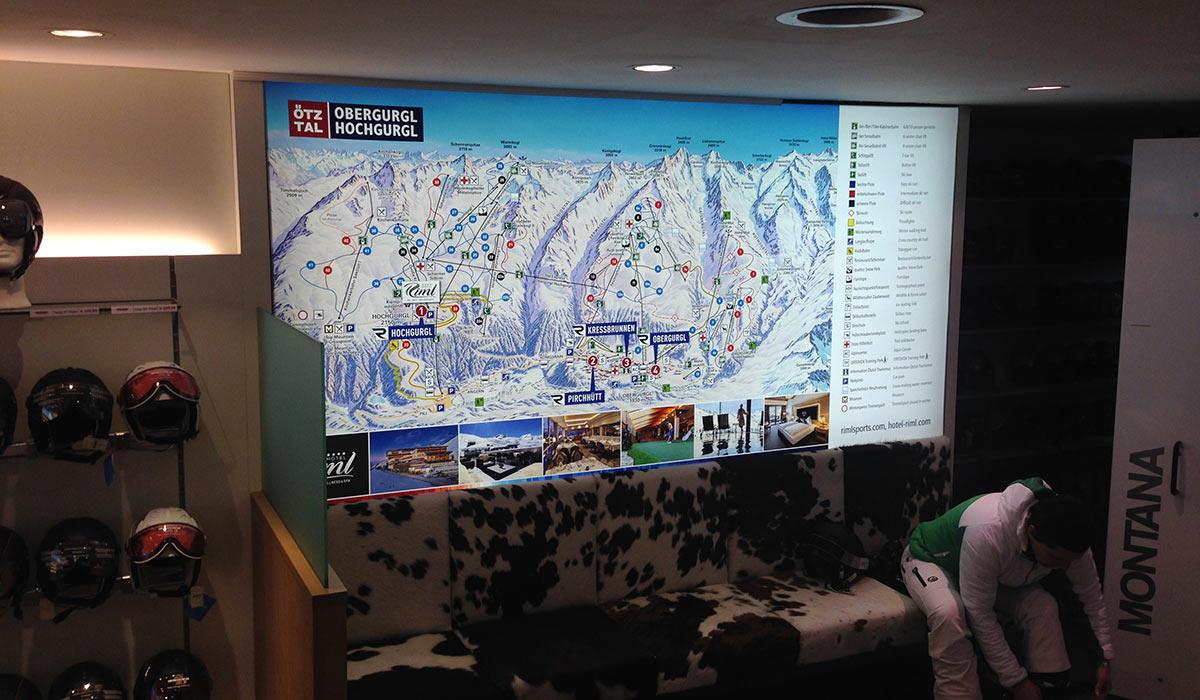 Bergbahnen Gurgl LED Frame