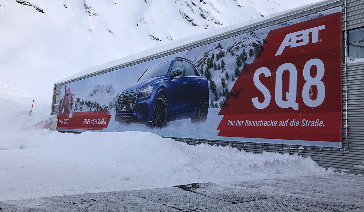 Riesenbanner ABT Skigebiet Gurgl